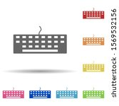 keyboard in multi color style...