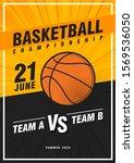 basketball tournament  modern... | Shutterstock .eps vector #1569536050