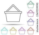 basket multi color icon. simple ...