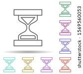 hourglass multi color icon....