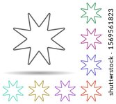 eight pointed star multi color...