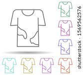 dirty shirt multi color icon....