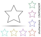 five pointed star multi color...