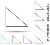 rectangle multi color icon....