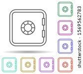 safe multi color icon. simple...