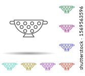 sieve multi color icon. simple...
