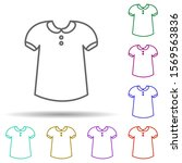 t shirt in multi color style...