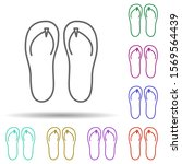 flip flops in multi color style ...