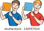 vector illustration of smiling... | Shutterstock .eps vector #156957014