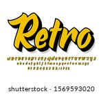 brush text effext with 3d... | Shutterstock .eps vector #1569593020