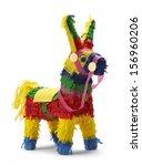 Mexican Donkey Pinata Isolated...