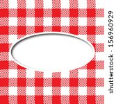 retro tablecloth texture speech ... | Shutterstock .eps vector #156960929