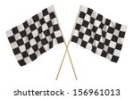 Two Checker Flags Crossed...