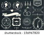 Retro Chalk Elements And Icons...