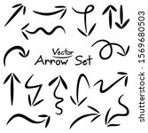 arrows. hand drawn set elements ... | Shutterstock .eps vector #1569680503