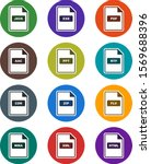 12 file formats icons sheet...