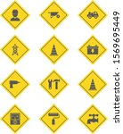 12 set of construction icons... | Shutterstock .eps vector #1569695449