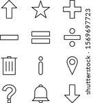 12 icon set of basic elements...