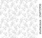 seamless simple flowers   black ... | Shutterstock .eps vector #156972950