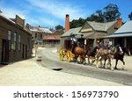 sovereign hill  australia  ... | Shutterstock . vector #156973790