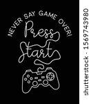vector joysticks gamepad ... | Shutterstock .eps vector #1569743980