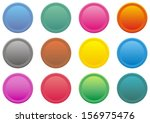 set of round coloured web... | Shutterstock .eps vector #156975476