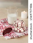 Two Red Velvet Cookies On A...