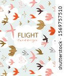 Cute Pattern With Flying Birds...