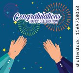 congratulation happy...   Shutterstock .eps vector #1569758053