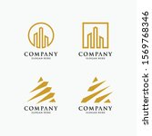 luxury building logo set and... | Shutterstock .eps vector #1569768346