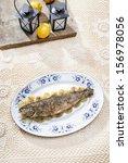 fish plate in greek tavern....