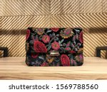 Black Floral Embroidery Clutch...