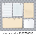 note papers sheets. different... | Shutterstock .eps vector #1569790033