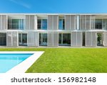 modern villa with pool  view... | Shutterstock . vector #156982148