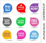 collection of colorful promo... | Shutterstock . vector #1569844219