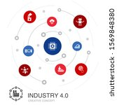 industry 4.0 colored circle...