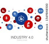 industry 4.0 trendy circle...
