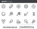 sport vector line icons set.... | Shutterstock .eps vector #1569850516
