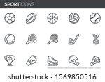 sport vector line icons set.... | Shutterstock .eps vector #1569850516