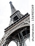 eiffel tower isolated over the... | Shutterstock . vector #156985349