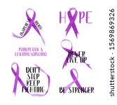 watercolor purple awareness... | Shutterstock . vector #1569869326