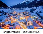 Winter Night Cityscape In The...
