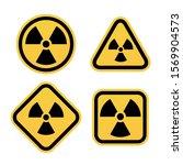 radiation warning symbols set.... | Shutterstock .eps vector #1569904573