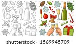 merry christmas and happy new... | Shutterstock .eps vector #1569945709