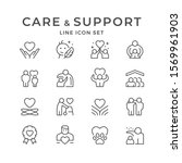 set line icons of care and... | Shutterstock .eps vector #1569961903