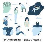 mental health concept set.... | Shutterstock .eps vector #1569970066