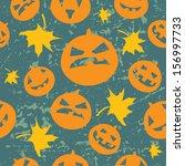 seamless halloween grunge...   Shutterstock .eps vector #156997733