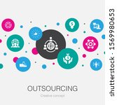 outsourcing  trendy circle...