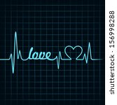 heartbeat make love text and... | Shutterstock .eps vector #156998288
