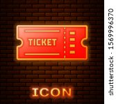 glowing neon ticket icon... | Shutterstock .eps vector #1569996370